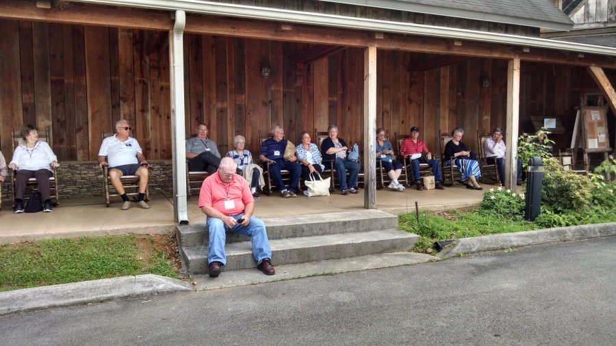Relaxing at Heritage Center Cades Cove on Smokey Mountain Spring 2017