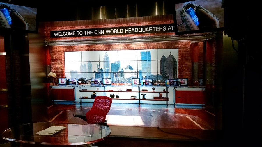 Inside CNN Studios, Atlanta GA. Southern Hospitality 2016