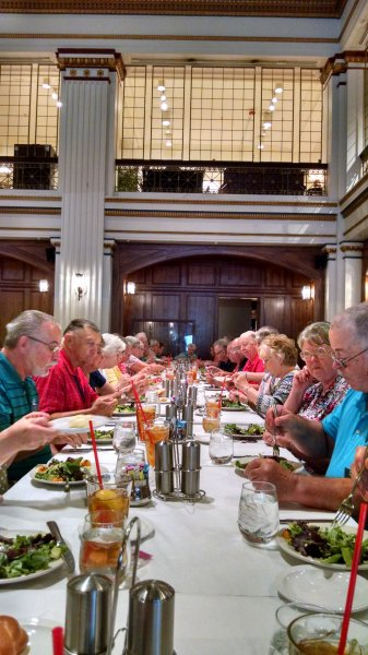 Lunch at Macy's Walnut Room, Chicago. Summer Mystery #7
