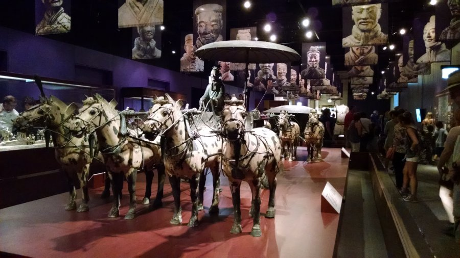 Terra Cotta Warriors exhibit, Field Museum, Chicago. Summer Mystery #7