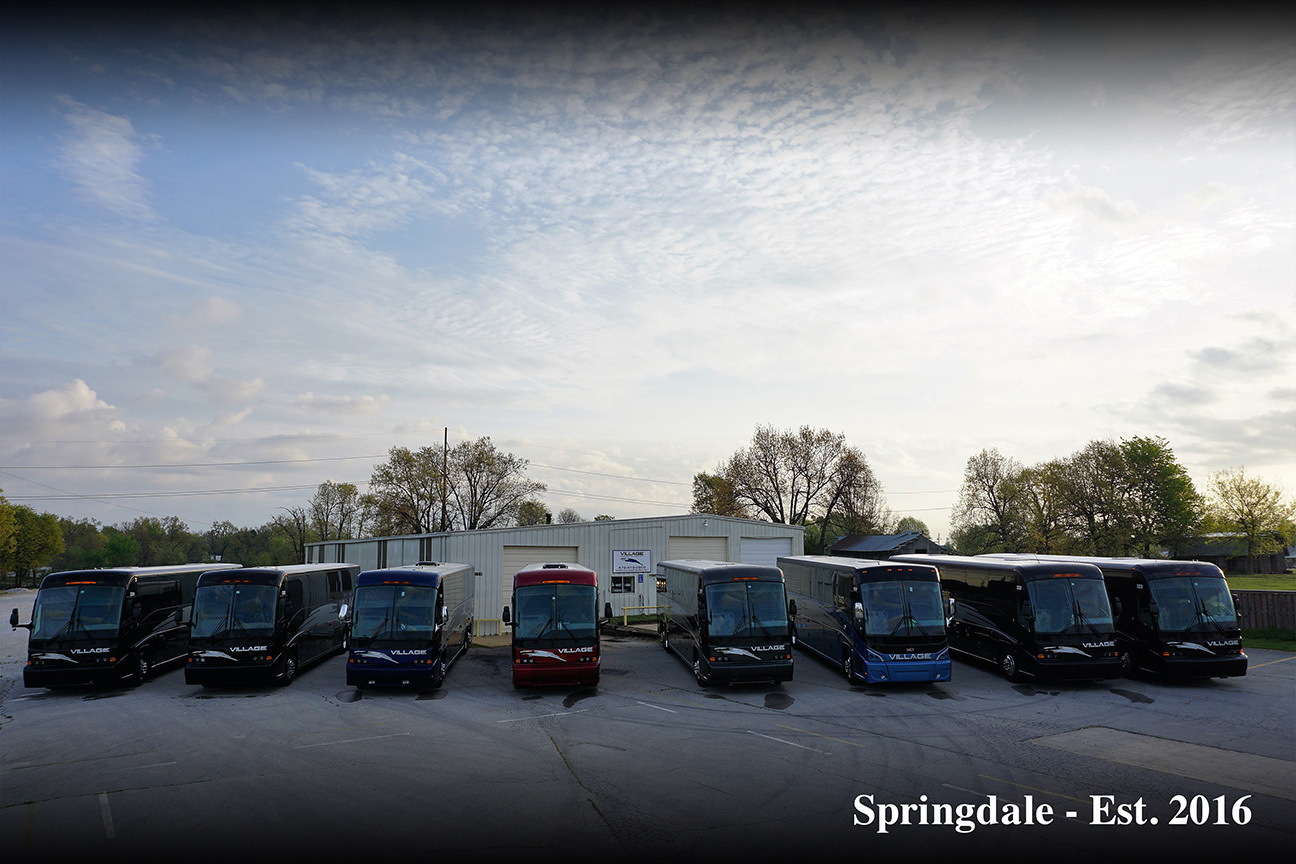 Charter bus Springdale AR