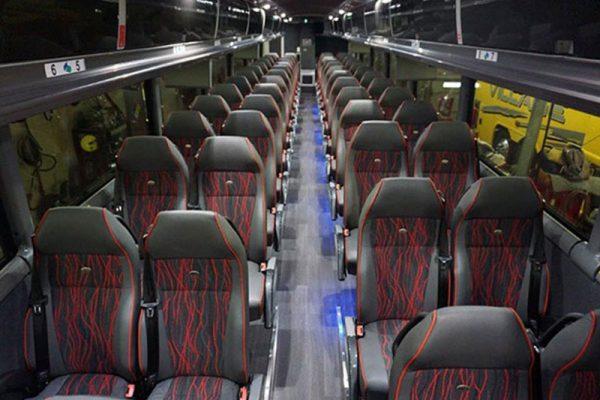Charter bus inside