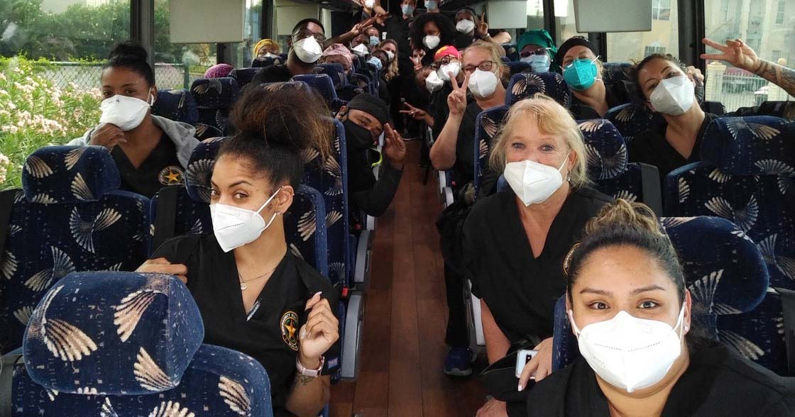 Transportation for Medical Workers COVID-19 Healthcare Charter in Texas